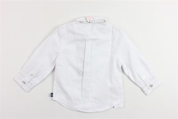camicia manica lunga tinta unita con papillion BOBOLI | Camicie | 716082BIANCO