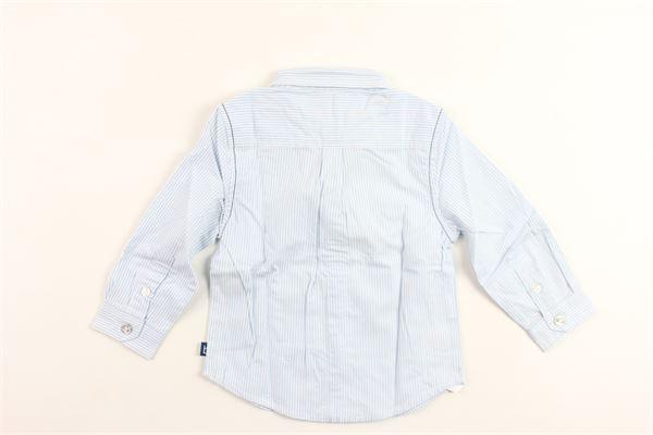 camicia manica lunga rigata in cotone BOBOLI | Camicie | 716183CELESTE