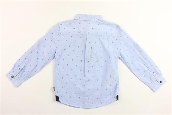 camicia manica lunga tinta unita microfantasia BOBOLI | Camicie | 733238AZZURRO