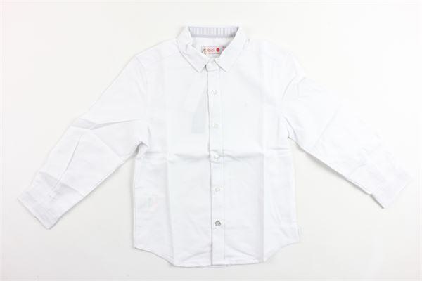 camicia tinta unita manica lunga in cotone BOBOLI | Camicie | 736006BIANCO