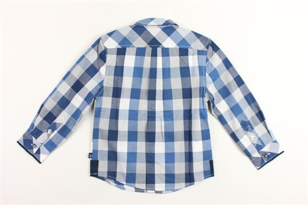camicia manica lunga fantasia a quadri BOBOLI | Camicie | 736231BLU
