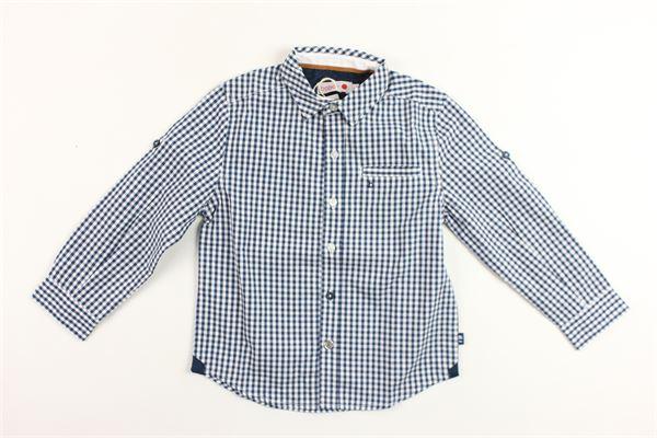 camicia manica lunga fantasia a quadri con taschino BOBOLI | Camicie | 736400BLU