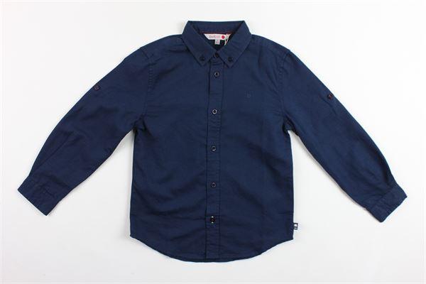 camicia manica lunga tinta unita BOBOLI | Camicie | 737007BLU