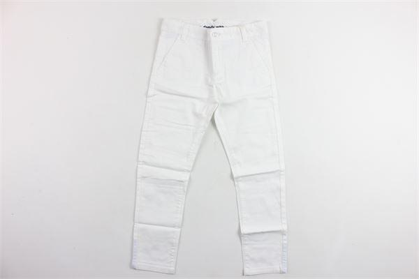pantalone tasca america tinta unita girovita regolabile BOBOLI | Pantaloni | 737041BIANCO