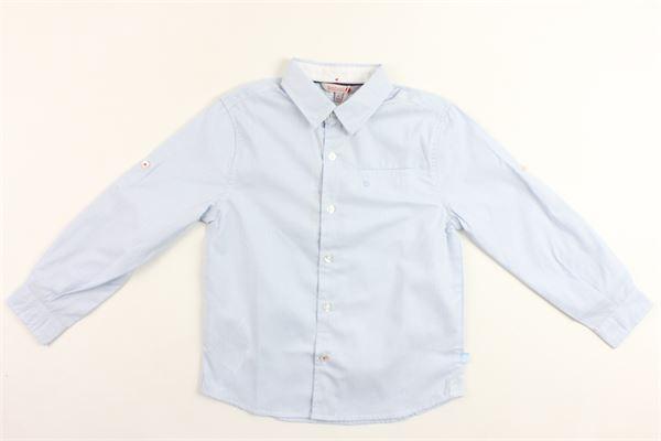 camicia manica lunga tinta unita con taschino BOBOLI | Camicie | 737445CELESTE