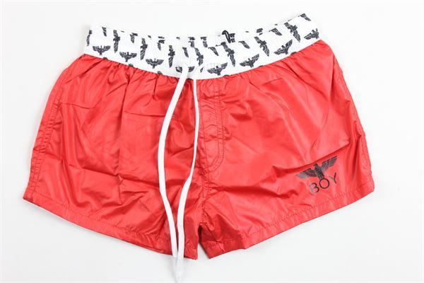 costume boxer tinta unita stampa boy e elastico in vita in contrasto BOY LONDON | Costumi | BXBL181104JROSSO