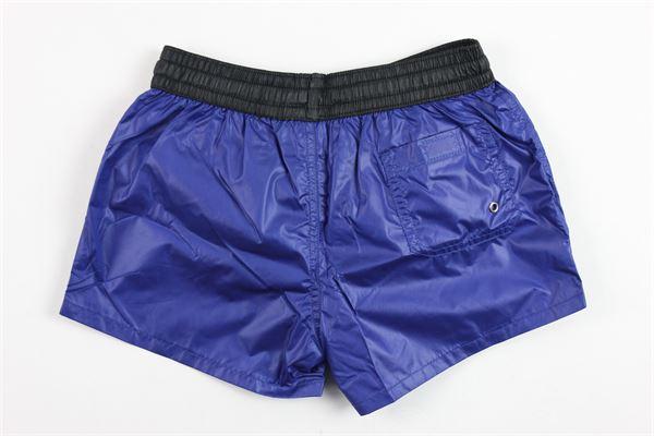 costume modello boxer tinta unita stampa boy elastico in vita in contrasto BOY LONDON | Costumi | BXBL181105JCOBALTO