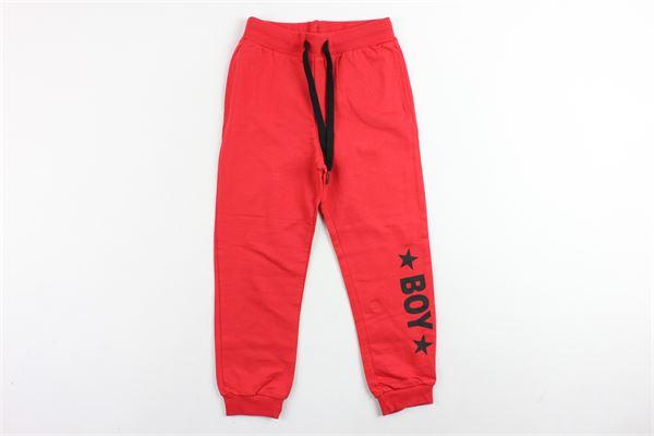 pantalone in felpa tinta unita stampa boy BOY LONDON | Pantaloni | PFBL181101BROSSO