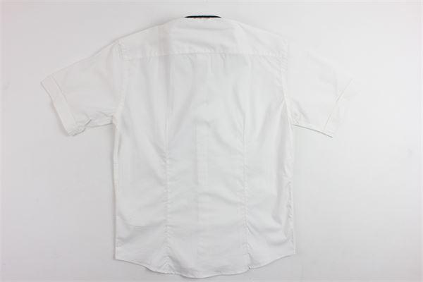 camicia mezza manica tinta unita con papillion e profili in contrasto BRIAN RUSH | Camicie | 000333NERO