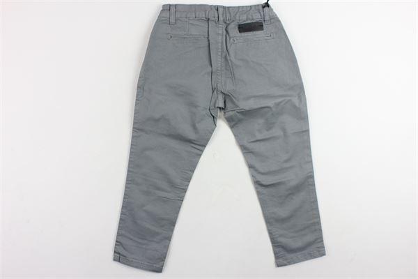 pantalone tinta unita in cotone tasca america BRIAN RUSH | Pantaloni | 1012GRIGIO
