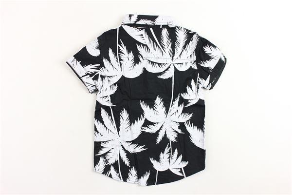camicia mezza manica stampa fantasia BRIAN RUSH | Camicie | 181038NERO
