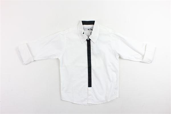 camicia manica lunga tinta unita profili in contrasto BRIAN RUSH | Camicie | 1812085BIANCO