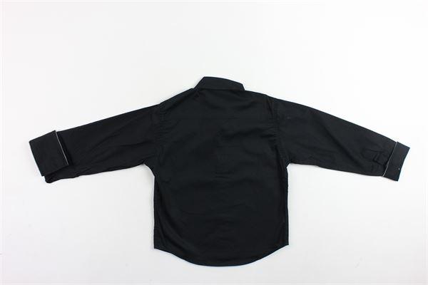 camicia manica lunga tinta unita profili in contrasto BRIAN RUSH | Camicie | 1812085NERO