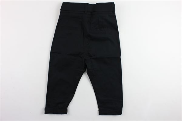 pantalone tinta unita cavallo basso con cintura BRIAN RUSH | Pantaloni | AA001NERO