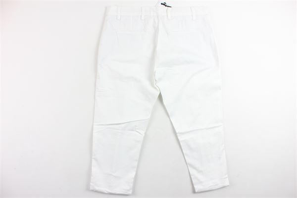 pantalone tinta unita in cotone tasca america BRIAN RUSH | Pantaloni | BPA01BIANCO
