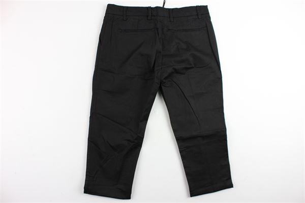 pantalone tinta unita in cotone tasca america BRIAN RUSH | Pantaloni | BPA01NERO