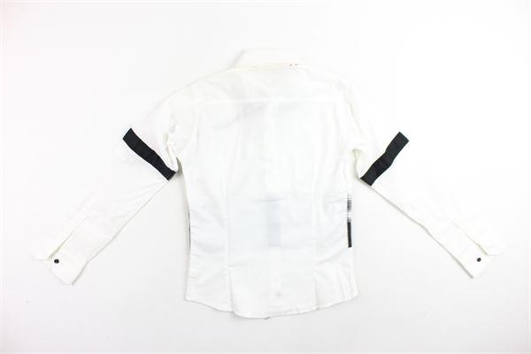 camicia manica lunga con papillion profili in contrasto BRIAN RUSH | Camicie | BR00012BIANCO