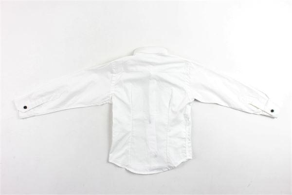 camicia manica lunga tinta unita profili in contrasto BRIAN RUSH | Camicie | BR00017BIANCO