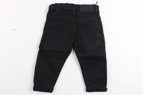 pantalone tinta unita 5 tasche in denim BRIAN RUSH | Pantaloni | BR19AA138NERO