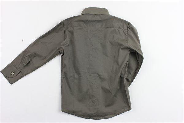 camicia manica lunga tinta unita in cotone BRIAN RUSH | Camicie | BR19CR035VERDE