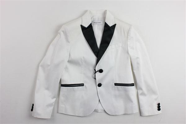 giacca tinta unita sfoderata con profili in contrasto. BRIAN RUSH | Giacche | BR6009769BIANCO