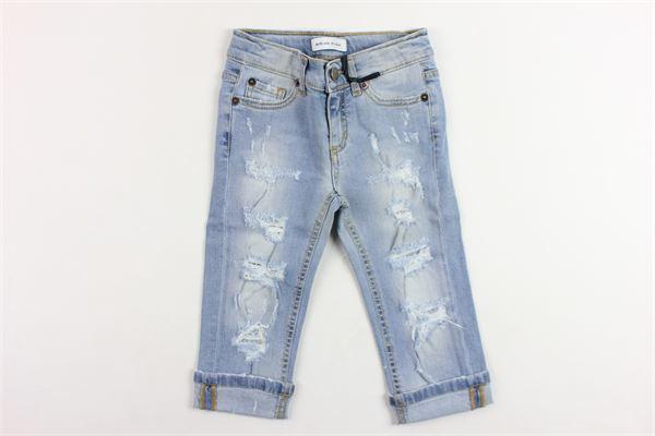 jeans 5 tasche tinta unita con strappi BRIAN RUSH | Jeans | PT0115308AZZURRO