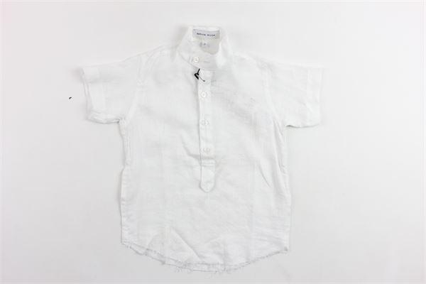 camicia mezza manica in cotone tinta unita collo coreano BRIAN RUSH | Camicie | SC202NBIANCO