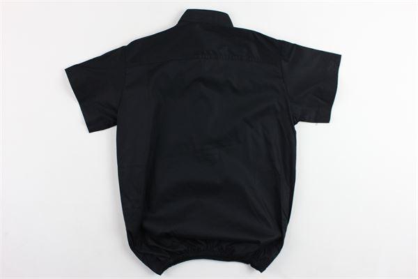camicia mezza manica tinta unita con zip ed elastico in vita BRIAN RUSH | Camicie | SC236NERO
