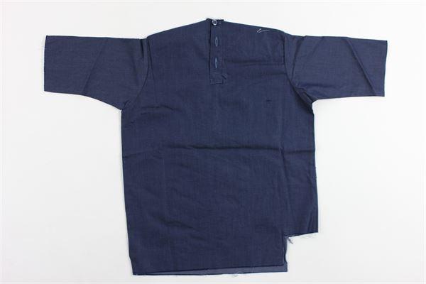 camicia mezza manica tinta unita in cotone BRIAN RUSH | Camicie | SC238BLU