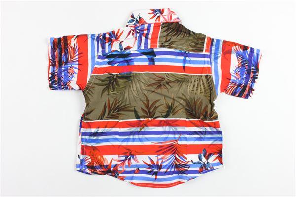 camicia mezza manica in cotone stampa fantasia BRIAN RUSH | Camicie | ST10BIANCO