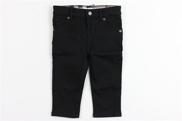 pantalone tinta unita 5 tasche profili burberry BURBERRY | Pantaloni | 3943284NERO