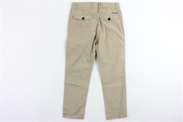 pantalone in cotone tinta unita tasca america BURBERRY | Pantaloni | 3998233BEIGE