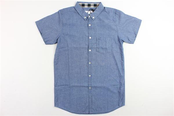 camicia mezza manica tinta unita BURBERRY   Camicie   4009255BLU