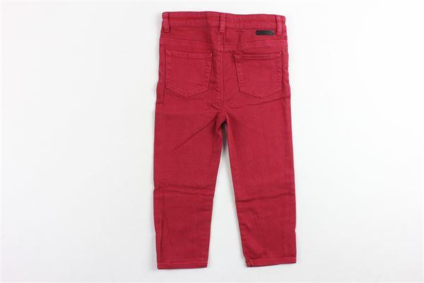 pantalone tinta unita in denim 5 tasche BURBERRY | Pantaloni | 4018317BORDEAU