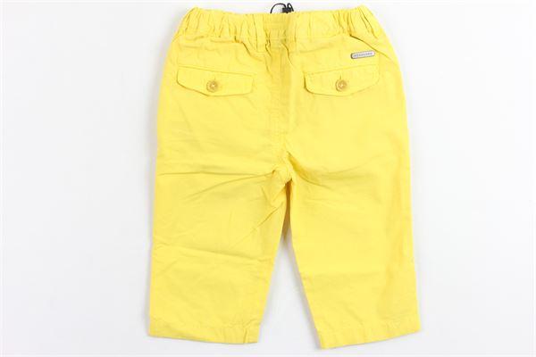 pantalone tinta unita in cotone tasca america elastico in vita BURBERRY | Pantaloni | 4034384GIALLO