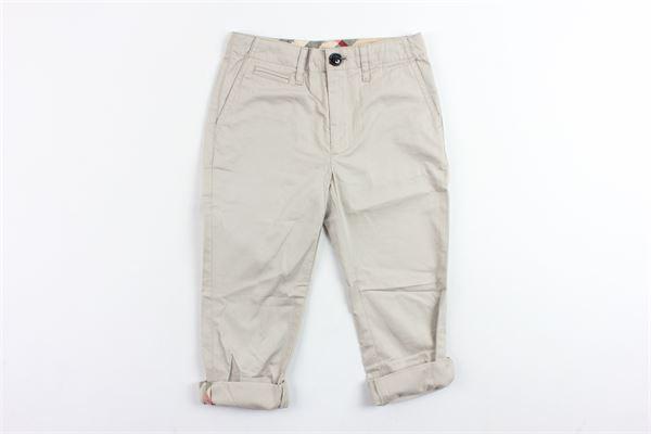 pantalone tinta unita in cotone tasca america BURBERRY   Pantaloni   4063181BEIGE