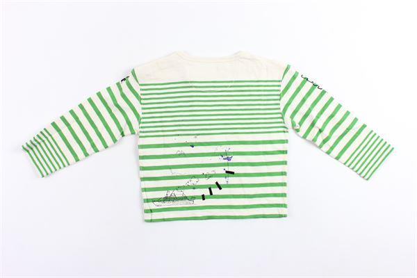 shirt manica lunga in cotone rigata BURBERRY | Shirts | 4071507BIANCO