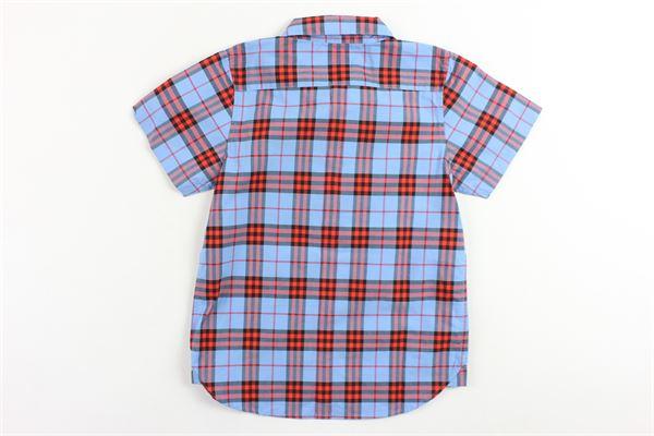 camicia mezza manica tinta fantasia burberry BURBERRY | Camicie | 4072173BLUETTE