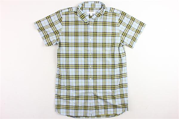 camicia mezza manica tinta fantasia burberry BURBERRY | Camicie | 4072173CELESTE