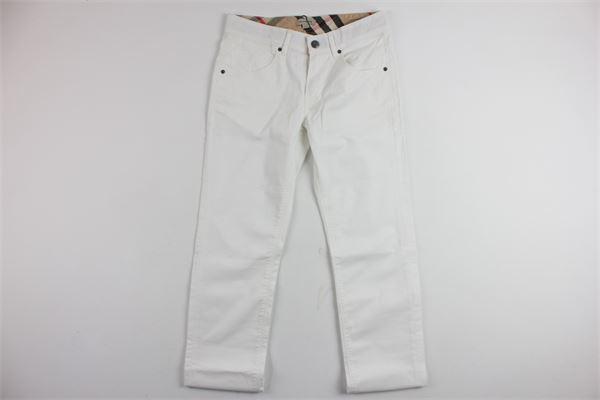 pantalone tinta unita 5 tasche profili burberry BURBERRY | Pantaloni | B2451110BBIANCO