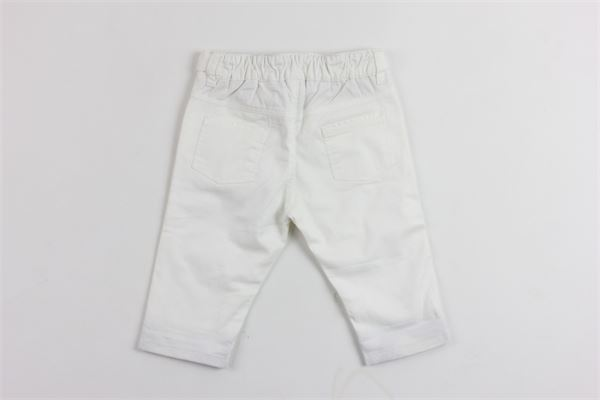 pantalone tinta unita elastico in vita profili burberry BURBERRY | Pantaloni | B9447510BBIANCO