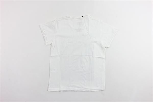 t-shirt mezza manica tinta unita con stampa BiSIBIGLIO | T-shirts | CALCIOBIANCO