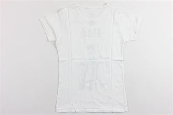 t-shirt mezza manica tinta unita con stampa BiSIBIGLIO | T-shirts | MASKBIANCO