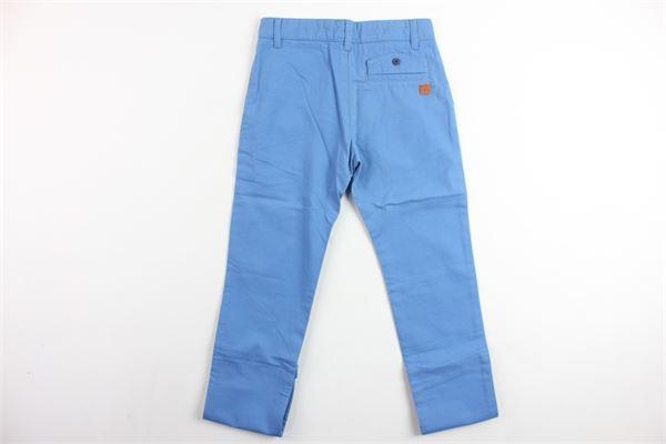 pantalone tinta unita tasca america girovita regolabile CARRE'MENT BEAU | Pantaloni | Y24072CELESTE