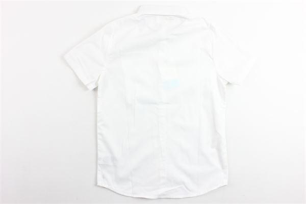 camicia tinta unita mezza manica con taschino CARRE'MENT BEAU   Camicie   Y25192BIANCO