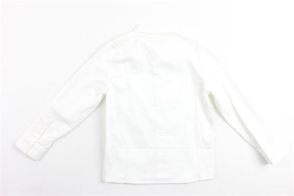 camicia manica lunga tinta unita in cotone stampa logo carre'ment beau CARRE'MENT BEAU | Camicie | Y25219BIANCO