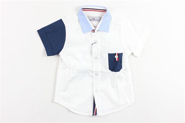 camicia mezza manica maniche in contrasto e taschino CESARE PACIOTTI | Camicie | CMP181807BPBIANCO