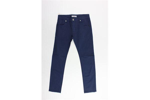 pantalone 5 tasche tinta unita in cotone CESARE PACIOTTI | Pantaloni | PTP181800JPBLU