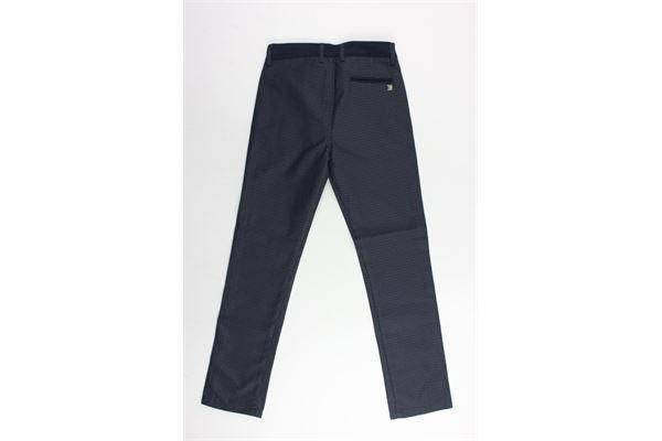pantalone tasca a filo microfantasia CESARE PACIOTTI | Pantaloni | PTP181807JPBLU