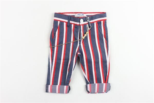 pantalone tasca america in cotone rigato CESARE PACIOTTI | Pantaloni | PTP181811BPBLU